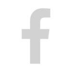 Facebook Logo in grau.